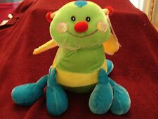"""Peek-A-Boo Bug with Crinkle Wings 6 Legs Plush stuffed Toy 12""""x 8""""With Tag NICE"""