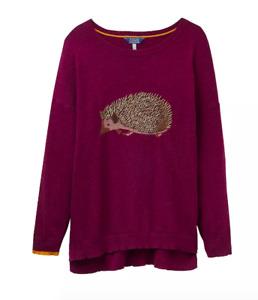 JOULES Meryll Lux Embroidered Hedgehog Jumper Sz 6 RRP£79.95 FreeUKP&P