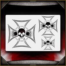 """Iron Cross 3"" Airbrush Stencil Template Airsick"