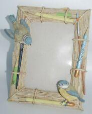 Hallmark Marjolein Bastin Picture Frame 4x6 Bluebirds & Pencils Twigs Nest Frame