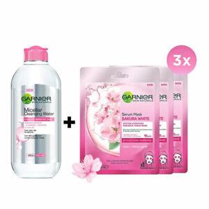 [GARNIER] Treat Your Skin Package Micellar Water 400ml + Sakura Face Mask 3pcs
