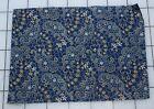 8176  Small Piece antique 1870-80's cotton fabric, indigo ,orange paisley