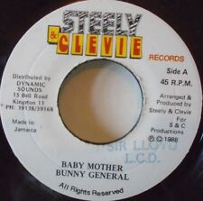 "BUNNY GENERAL - Baby Mother ~ 7"" Single JA PRESS"
