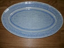 Anthropologie Veru Stoneware Platter Blue
