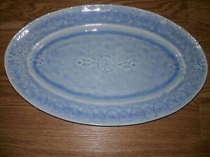 Anthropologie Veru Stoneware Platter Blue