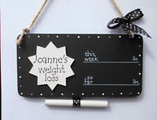 Weight Loss Plaque Chalkboard Sign Personalised WeightWatchers Slimming World
