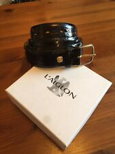 L'AIGLON Real Crocodile Mens Belt Made In France 44/110 Can Be Cut Down In Size.