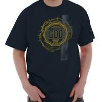 Standing With God Jesus Christ Religious Christian Gift T Shirt Tee For Men