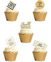 30.Geburtstag Eßbar Tortenbild Party Deko Muffinaufleger Cupcake Geschenkidee 24