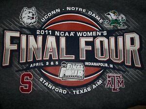 NWOT Champion NCAA 2011 Women's Final Four Hooded Sweatshirt S UCONN Notre Dame