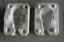 "Vintage Ceramic Seeley Uncle Sam Man Doll Head Mold S-30 2 3/4"" Tall"