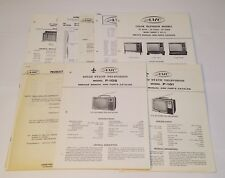 c1966 AMC Aimcee Lot TV & Console Stereo Phonograph Schematics Service Manuals