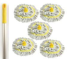 5 colori codificati scopa testa manico in alluminio pulizia igienica filati di cotone GIALLO
