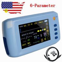 6-Parameter Vital sign Monitor Patient Monitor ECG NIBP Spo2 Pulse Rate FDA