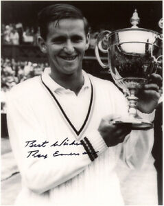 ROY EMERSON SIGNED AUTOGRAPHED 8x10 PHOTO CELEBRATED TENNIS LEGEND BECKETT BAS