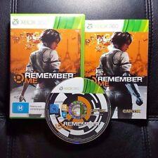 Remember Me (Microsoft Xbox 360, 2013) Xbox 360 Game - FREE POST