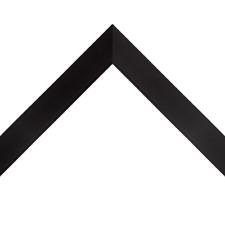 "Custom Wood Picture Frame   1"" Gallery Black   Diploma Art Print   Solid Wood"