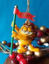 Enesco Garfield Miniature Ornament 1990 A Very Good Year