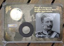original  Preussen Münze 1/2 Mark 1914 dazu Gedenkprägung  Kaiser Wilhelm