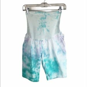 Motherhood Maternity Women's size S Custom Tie-Dyed Secret Fit Belly Shorts Boho