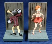 Extremely Rare! Tex Avery & Pin Up Girl Demons & Merveilles Bookends Statue Set