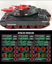 GI JOE - 1985 SEARS C.A.T. CRIMSON ATTACK TANK REPRO DECALS 100% COMPLETE