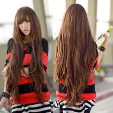 Z. B. _ Damen 80cm Lang Lockig Gewellt Stil Cosplay Volles Haar Perücke mit Neat