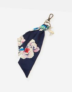 Joules Womens Sienna Short Scarf Keyring - Navy Floral - One Size