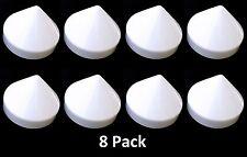 "Marine Boat Dock 8.5"" Piling Cone 8 Pack White Pylon Cap Covers"