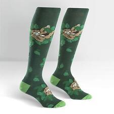 Sock It To Me Women's Funky Knee High Socks - Sleepy Sloth