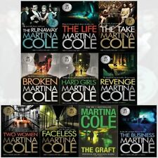 New Martina Cole 10 Books Collection Set The Runaway,The Life,The Graft,Faceless