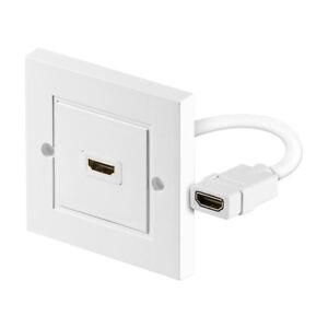 HDMI 4K Wanddose   1x HDMI Buchse 2.0b HDR Anschlussdose Einbaudose Unterputz