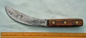 "Vintage Carbon Steel Stout 6"" Skinning Knife Full Tang Wood Handle"