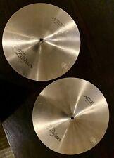 "Zildjian 14"" Avedis New Beat Hi Hat Cymbals (Top and Bottom) No Reserve!!"