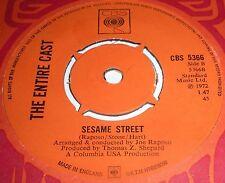 SESAME STREET THEME c/w ERNIE RUBBER DUCKIE RARE CLASSIC BREAKS CBS 5366 SUPERB