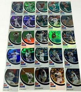 2007 Topps Own the Game Complete Insert Set 1-25 Albert Pujols David Ortiz A-Rod