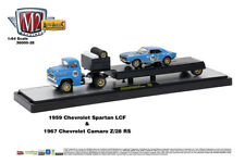 M2 Machines Auto Hauler 28 1959 Chevrolet Spartan LCF and 1967 Camaro Z/28 RS