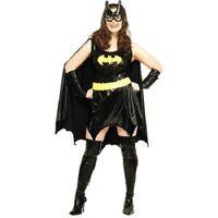 Superhero Batman Batgirl Plus Size Halloween Costume, Dress Size 14-16