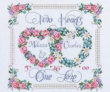 Cross Stitch Kit ~ Janlynn Two Hearts United Wedding Record #080-0410