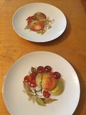 "Vintage Wiuterlissg Bavaria Fruit Plates 7-1/2"" Bx7"