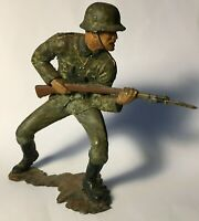 Collectable Large Marx Toys WWII German Soldier Figure - Painted