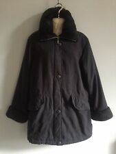 MARKS AND SPENCER FUR COLLARED WINTER COAT - SIZE 12