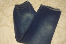L.A. Blues Distressed Womens Jeans Size Large Boot Cut Cotton Blue