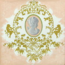4x Single Lunch Party Paper Napkins for Decoupage Decopatch Craft Cameo Apricot