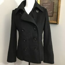 J . Crew Black Peacoat Sz S Winter Wool Coat Womens Warm Snow Jacket