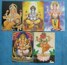 Assortiment 5 Cartes Indian Style 16x11 Artisanat Inde 32