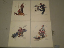 Vintage Norman Rockwell Grandpa And Me Embossed Print set