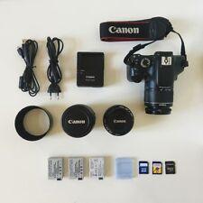 Camara Canon EOS 550D + Lentes, Parasol, Tarjetas SD, Baterias y Mochila