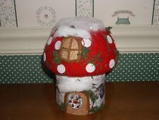 """Dept. 56 - 6""""H-Snow Christmas Red Gnome Cottage-New 2015"""