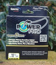POWERPRO 'SUPER 8 SLICK' BRAID HI-VIZ YELLOW 15Ib 150 yds CARP BARBEL POWER PRO